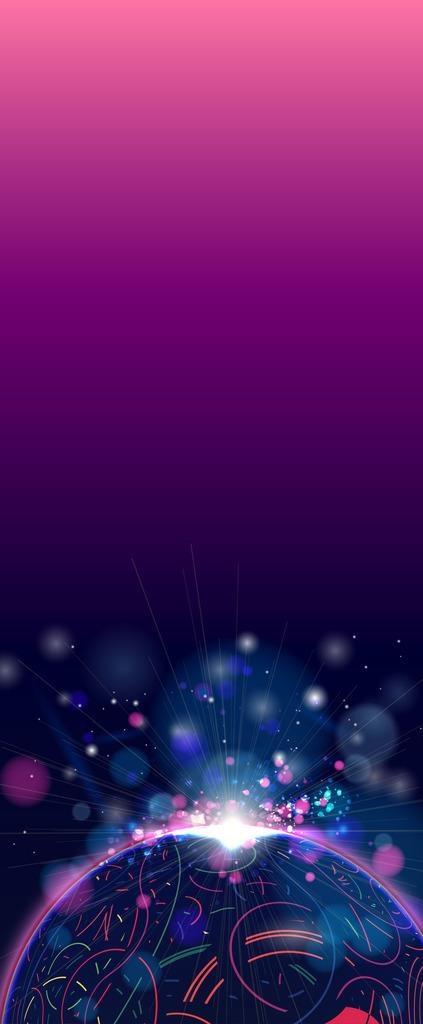 炫彩紫色展架背景图片展架ai矢量模版下载